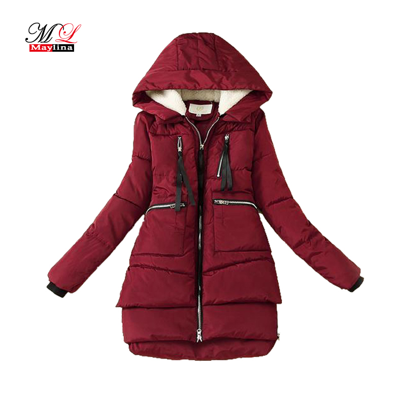 Maylina Winter Cotton Coat Women 2018 New   Parkas   Plus Size 5XL Thickening Hooded Coats Warm Long Jacket Casual Overcoat Female