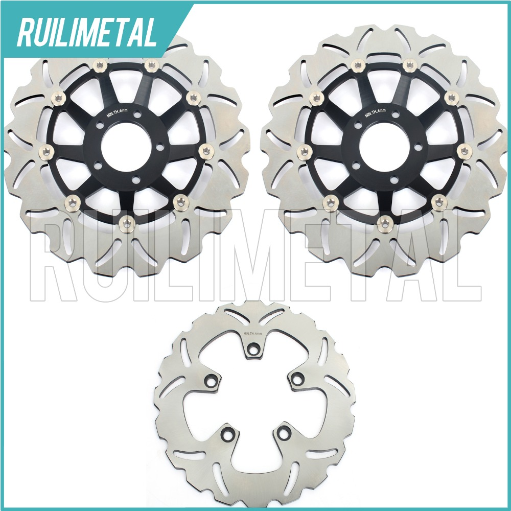 Full Set New Front Rear Brake Discs Rotors for Suzuki GSXR 750 W F Slingshot GSX-R 1100 W 89 90 91 92 93 94 95 96 97 98 99 00 full set front rear brake discs disks rotors pads for suzuki gsxr 750 94 95 gsx r 1100 p r s t 1993 1994 1995 1996
