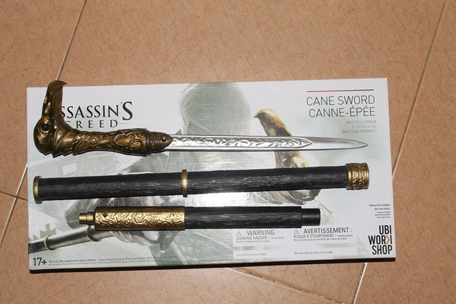 NECA Assassin's Creed Syndicate Sword Cane Cosplay Weapon Jacob Frye Cane Hidden Blade PVC Action Figure Model Toy KT1846