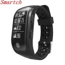 Smartch GPS Смарт Браслет S908 Поддержка шагомер сердечного ритма Водонепроницаемый IP68 Smart Band Фитнес трекер PK miband 2 I6