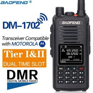 Image 1 - 2020 Baofeng DM 1702 نظام تحديد المواقع DMR الرقمية التناظرية واكي تاكي محمول Tier1 و Tier2 مكرر ثنائي النطاق VHF/UHF هام راديو اتجاهين