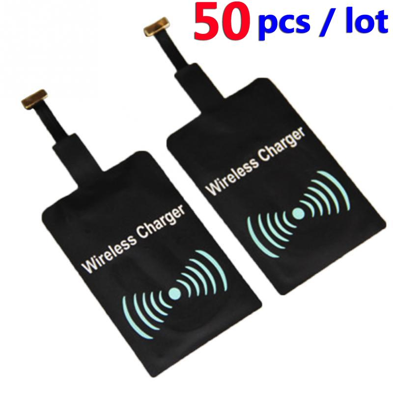 50PCS Qi Wireless Charging Receiver Adapter Card Charger Module Mat Chip for Samsung Galaxy S5 i9600 5V 1.5A