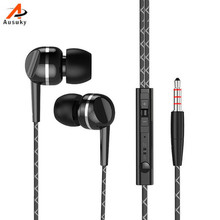 A Ausuky Stereo Earphone In Ear Wire Control With Mic 3.5mm In Balanced Bass Perfect For Phone MP3/MP4 -25