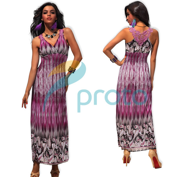 M XXL Plus Size 2013 New Arrival Women Fashion Print Bohemian Maxi Long Beach Dress with Embroidery Back Summer Dress 4188