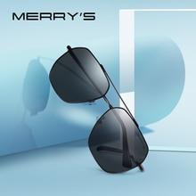 MERRYS gafas de sol cuadradas clásicas para hombre, lentes de sol masculinas polarizadas HD con marco de aviación, adecuadas para conducir, protección UV400, S8211
