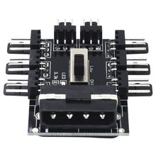 PC 1 to 8 4Pin Molex Cooler Cooling Fan Hub Splitter Cable PWM 3Pin Power Supply Speed Controller Adapter For PC Mining