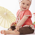 3 Pcs Kids Baby Girls Fruits Pattern Top+Pants+Hat Set Outfits Clothes Set 0-3 Years