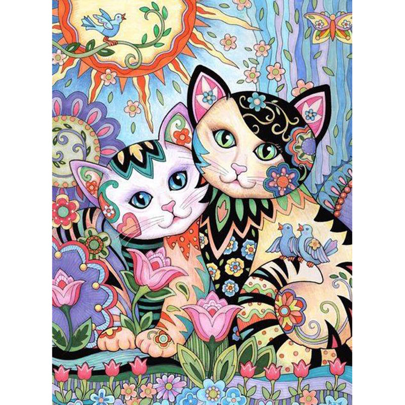 Cute little cat diamond Embroidery diy painting mosaic diamant 3d cross stitch pictures H732