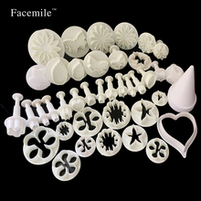 ФОТО 44pcs/set molds for cake fondant decorating tools cookie sugar craft plunger cutters tools decorating set