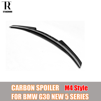 G30 M4 Style Carbon Fiber Rear Trunk Wing Spoiler for BMW G30 530 540 F90 M5 2017 UP image