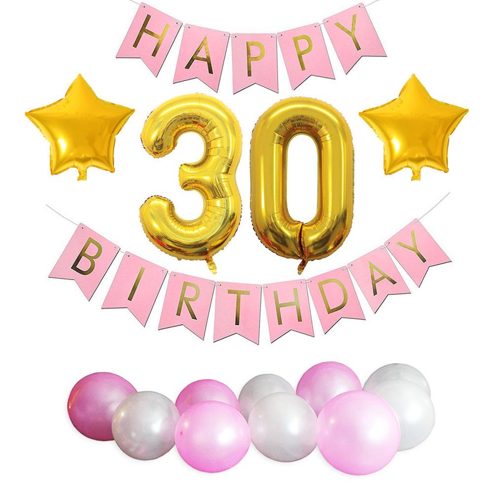 ZLJQ 30th Birthday Party Decorations Kit Happy Birthday