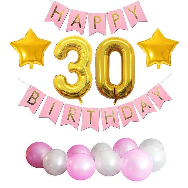 ZLJQ 30th Birthday Party Decorations Kit