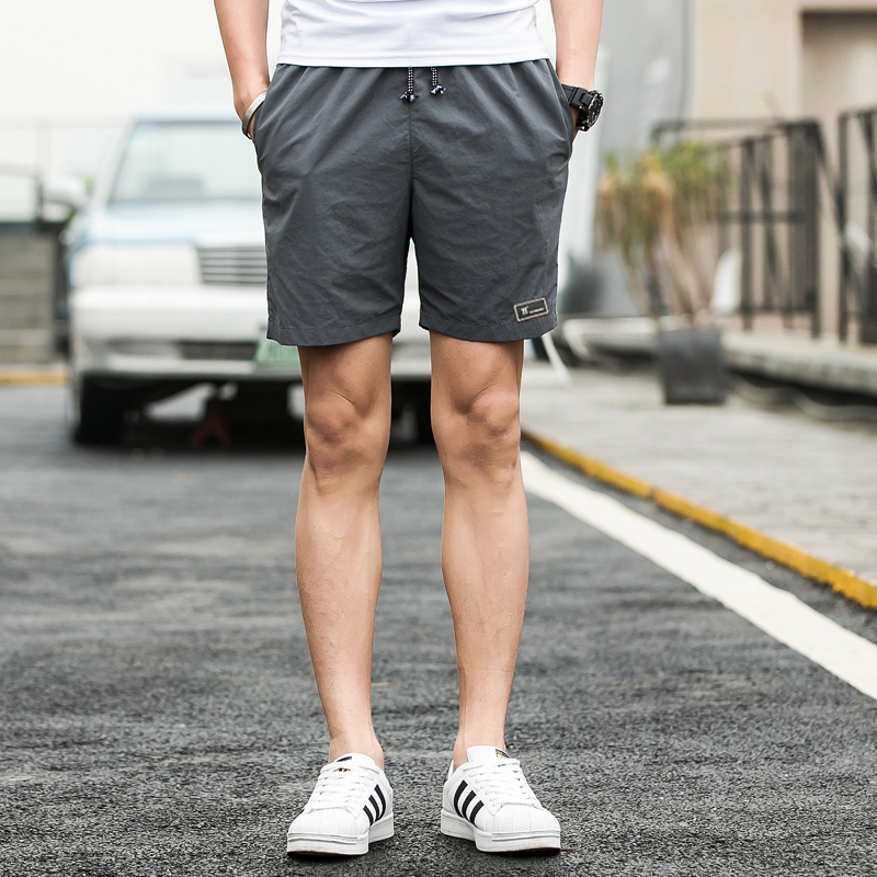 Fashion Quick Drying Shorts Male Casual Beach Shorts Men Pure Color Jogge Shorts Mens Plus Size M-5XL Free Shipping Short Homme