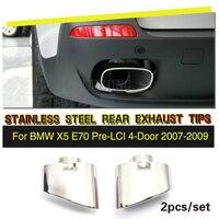 Stainless Steel Car Exhaust Muffler for BMW X5 E70 Pre LCI 2007 2009 2pcs/set