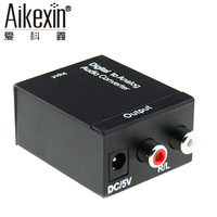 Aikexin Digital To Analog Audio Converter With Optical Toslink Cable 192kHz 24bit Optical And Coaxial DAC