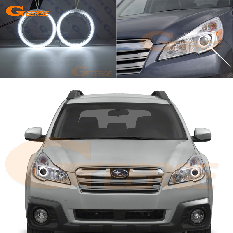 For Subaru outback 2013 2014 headlight Excellent Angel Eyes Ultra bright illumination CCFL Angel Eyes kit Halo Rings