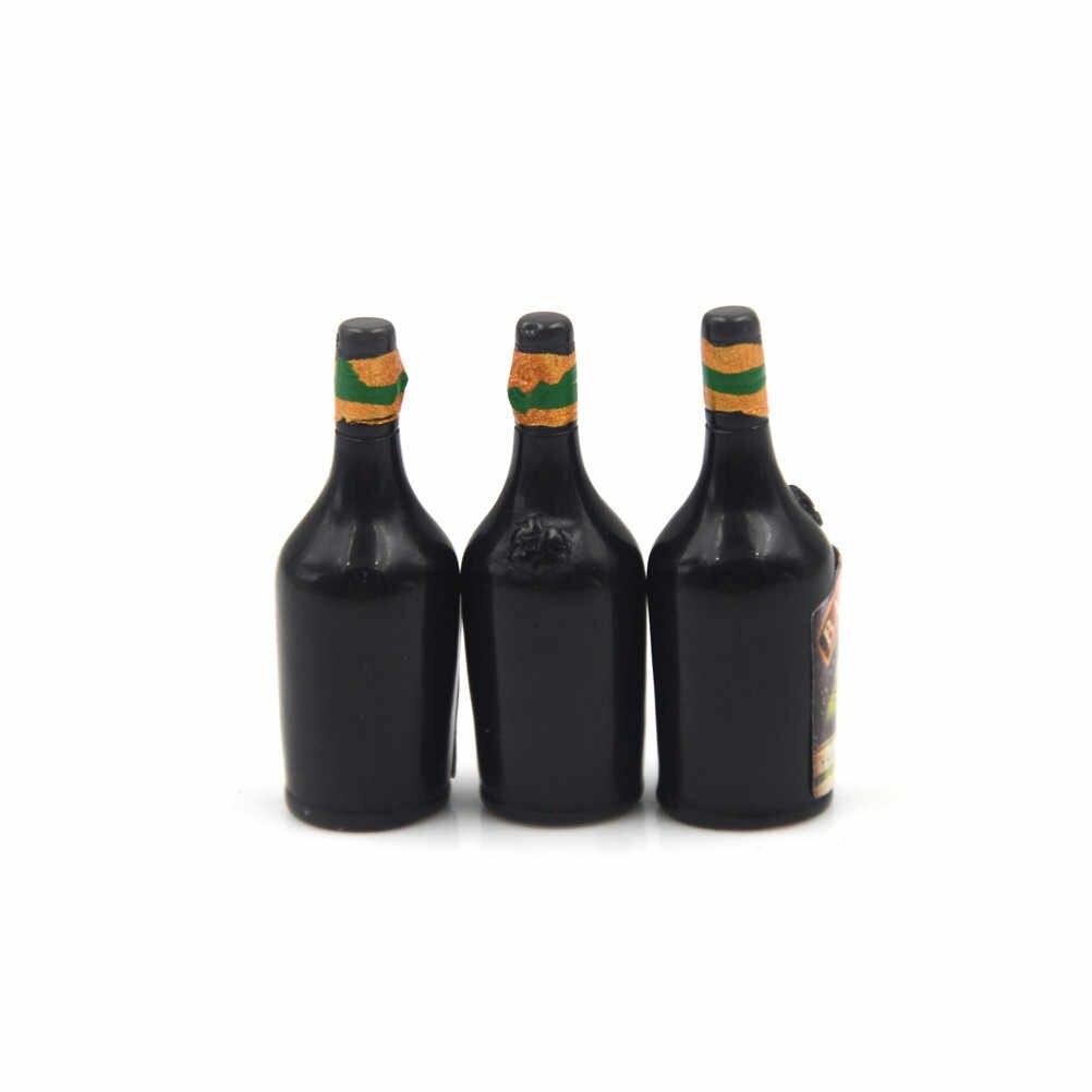 3 Cái/lốc Whisky Rượu Thu Nhỏ Thanh Quán Rượu Uống Nhà Búp Bê Trang Trí Hàng Mới Về