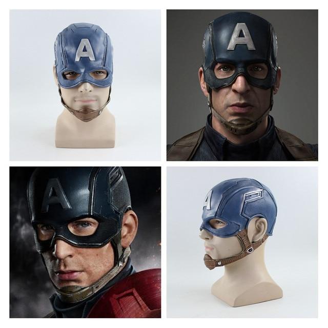Os Vingadores 4 Endgame de Super-heróis Capitão América Cosplay Máscara de Látex Máscaras Capacete Crianças Brinquedo Adulto Halloween Prop Steven Rogers Novo