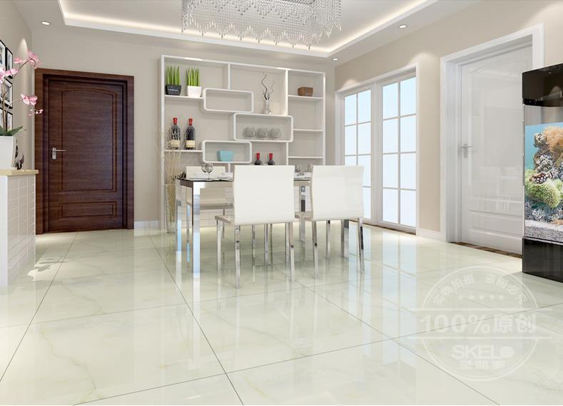 Green Glazed High Grade Indoor Antiskid Floor Tiles 800 600 Smooth