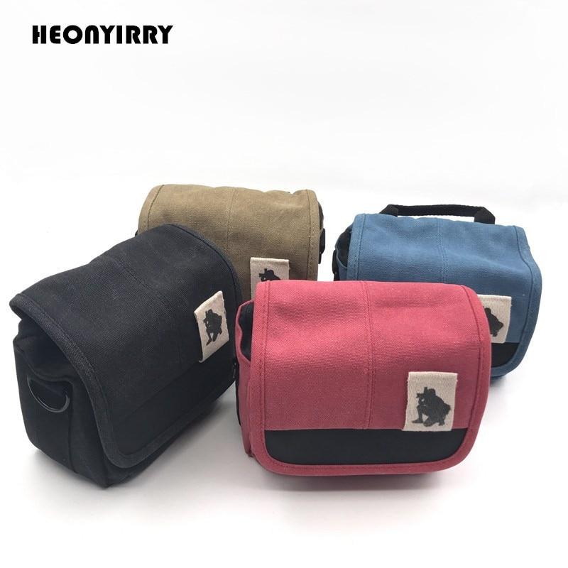 Digital SLR Camera Bag Cover Canvas Shoulder Bags DSLR Video Bags Small Compact Camera Handbag for Canon Sony d3200 d3100 d5200