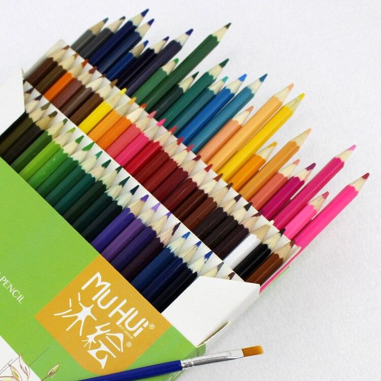 72 crayons de couleur à l'eau pré-affûtés de qualité supérieure pour artiste, solubles dans l'eau, avec brosse pour enfants, adultes, dessin artistique, croquis