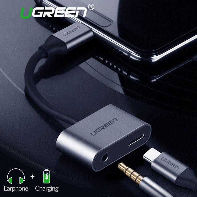 Ugreen USB C do Jack 3.5 typ C adapter do kabla dla Huawei P20 Pro Xiao mi mi 6 8 9 se uwaga USB typu C 3.5mm AUX słuchawki Converter