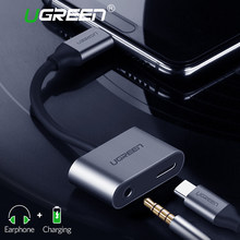 Ugreen USB C to Jack 3.5 Type C Cable Adapter For Huawei P20 Pro Xiaomi Mi 6 8 Note3 Mix USB Type C 3.5mm AUX Earphone Converter(China)