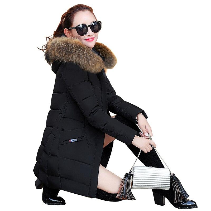 Bas Moyen Épaississement Marée Le Cheveux Femelle D'hiver Nouvelle Grand Et Vers Style Vêtement Long rouge Réchauffement Édition gris Col Noir Minceur 2018 Coréenne 7TIIExO