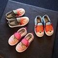 Kids Shoes canvas girls shoes Студенты Дышащие Мягкие Животных Дизайн малышей мальчики мокасины дети shoes Случайные Плоские кроссовки