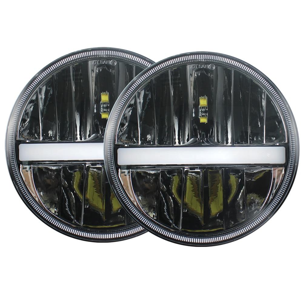 RGB 7/'/' Chrome Led headlight w// Angel Eye for Ford Mustang 1965-1978 //Hummer H1