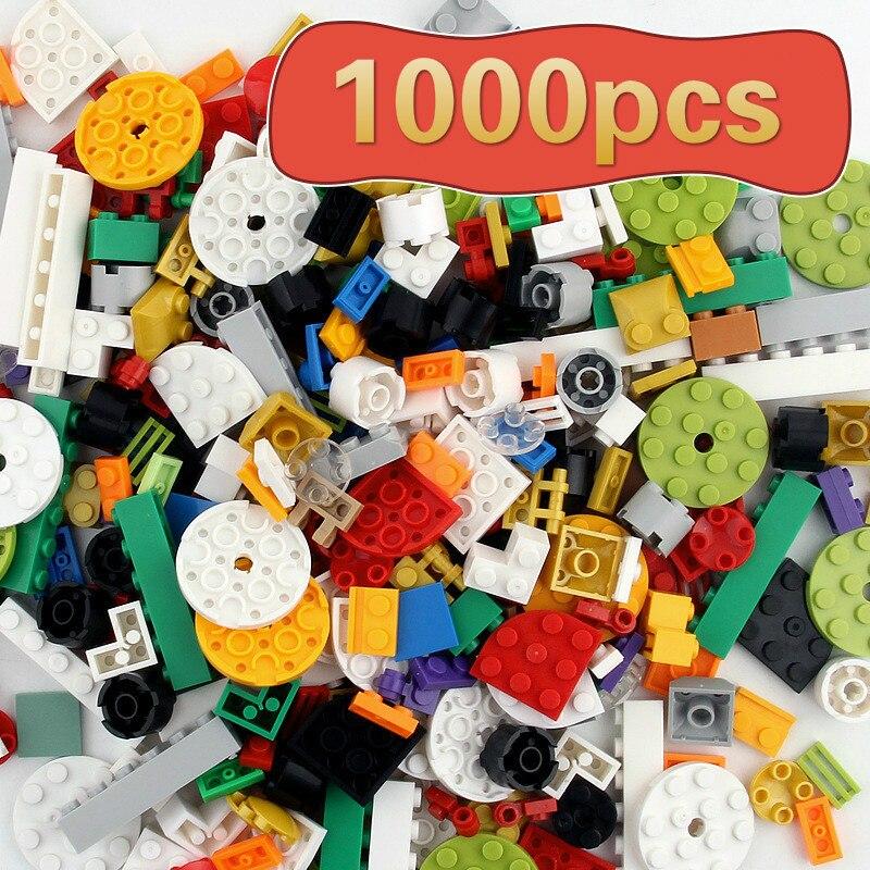 1000 Peças DIY Conjuntos de Blocos de Construção Da Cidade Criativa Legoed Duploed Bloco de Montar Brinquedos Educativos para Crianças Bricks Compatíveis