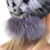 QUEENFUR Real Bola de Sombrero de Piel de Conejo Con piel de Zorro Auténtico gorros Cap Stripe 2016 Calientes Del Invierno Natural Rex Rabbit Fur gorros