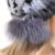 QUEENFUR Verdadeiro Chapéu de Pele de Coelho Com Genuine Fox Fur Bola gorros Cap Tarja 2016 Inverno Quente Rex Naturais Pele De Coelho gorros