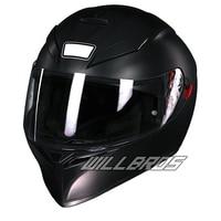 K3 SV Matte Black Street Motocross Racing Full Face Motorcycle Helmet