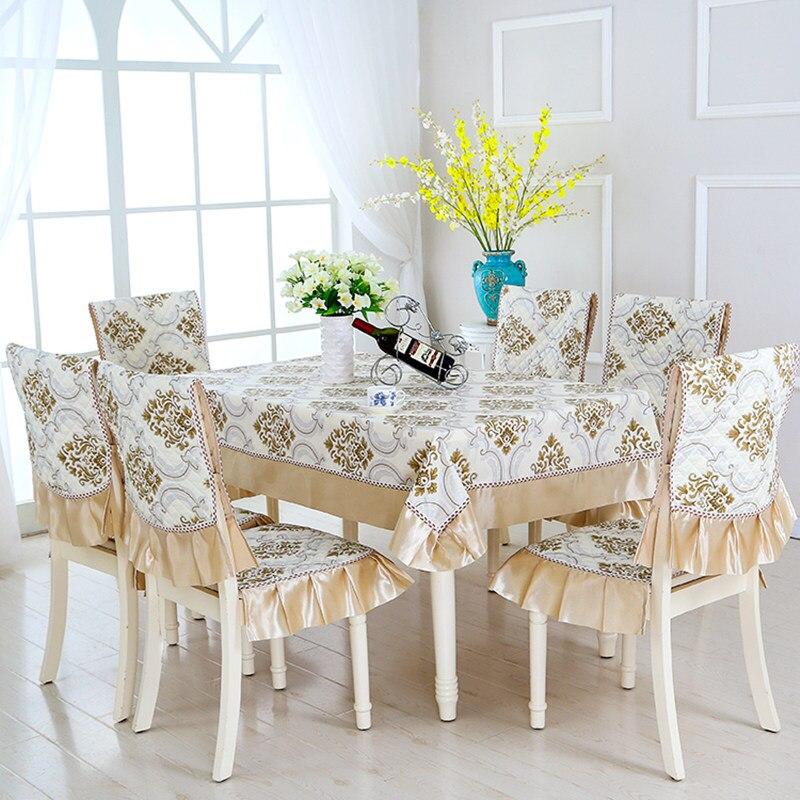 Европейский стиль, 5 цветов, настольный цветок из текстиля, Rrinted 9 шт./компл., скатерти, уличные скатерти, вечерние, свадебные скатерти - 4