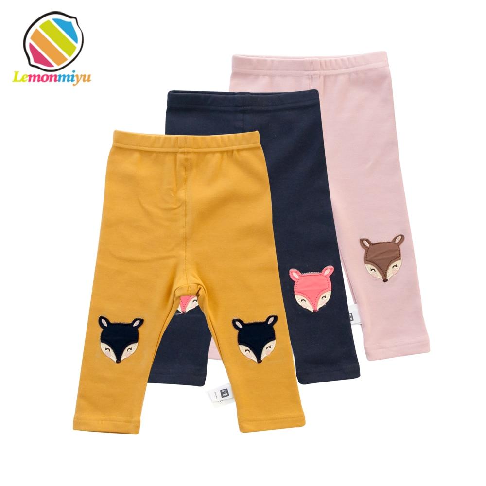 Lemonmiyu Cotton Toddler Legging Pants Animal Fox 0-24M Baby Tights Cute Newborn Full Trousers Spring Cartoon Kids Long Pants