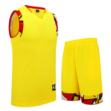 SANHENG Men's Basketball Jersey Shorts Mens Competition Uniforms Suits With Pocket Quick-Dry Custom Basketball Jerseys S116159(China)