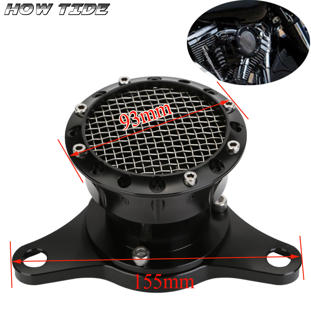 For Harley Sportster 883 1200 XL 48 2004-UP Motorcycle Black Velocity Stack Air Cleaner Intake Filter CNC Aluminum