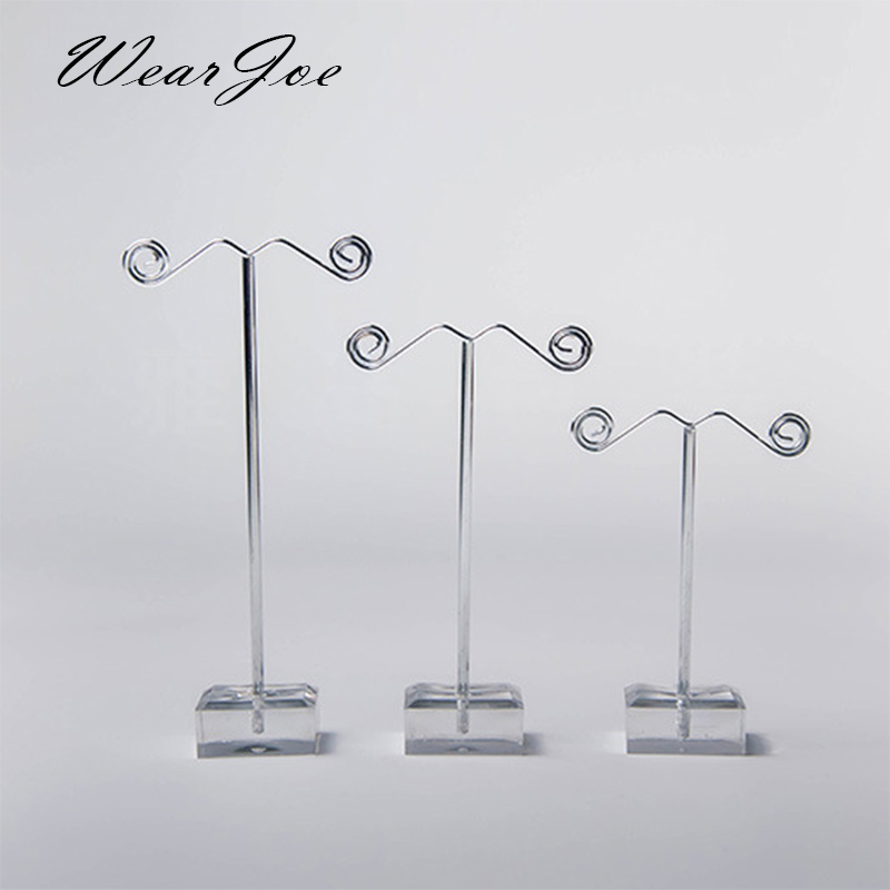 Wholesale Black Clear Acrylic Stud Earring Jewelry Display Rack Stand Organizer Bouches Ornament Holder Hook Hanger Counter Case