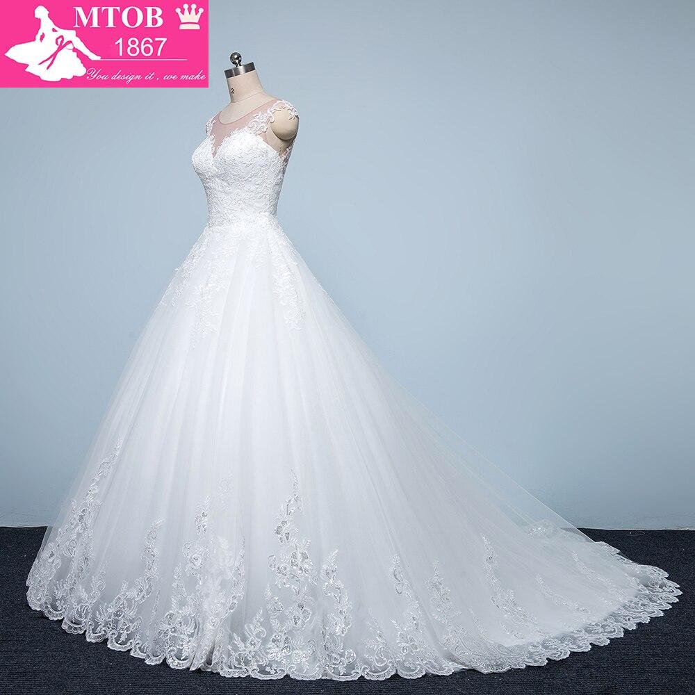 Designer Wedding Dress 2017 Phi Thường Sexy Xem qua Lại Thanh Lịch Bridal Bóng Gowns Bridal Dresses Vestido De Noiva MTOB1718