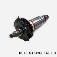 AC 220V Drive Shaft Electric Hammer Angle Grinder Armature Rotor For DEWALT D28111X D28803 D28110 Original