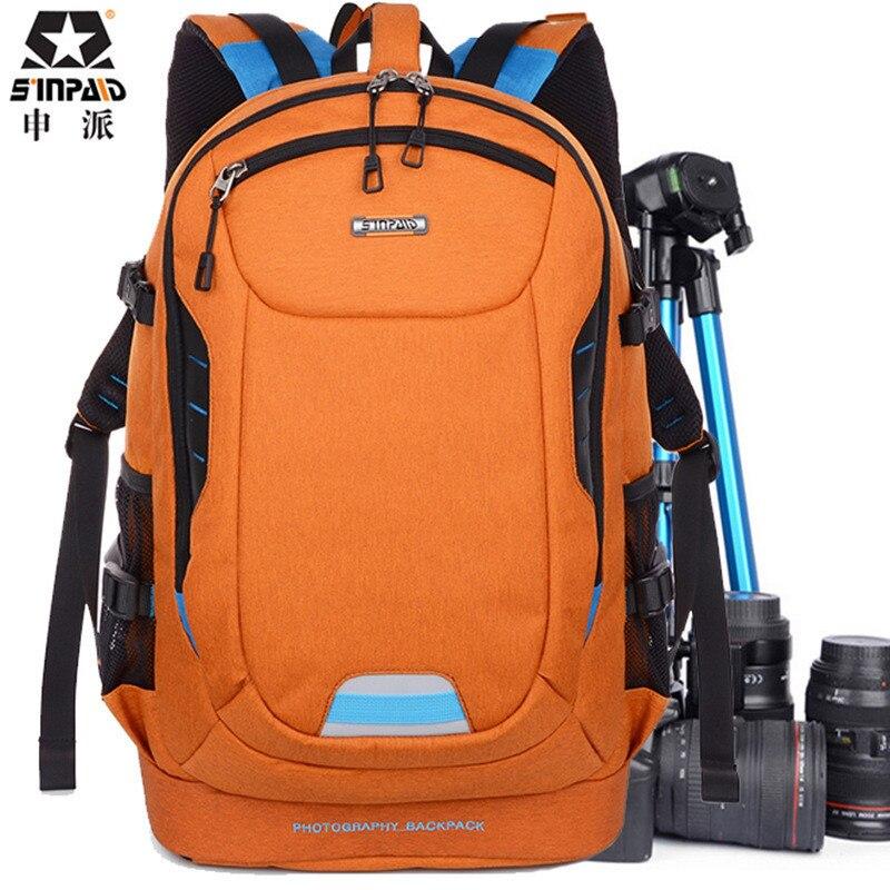 Sinpaid фото ультра прочный износостойкий Водонепроницаемый Anti-Theft предотвращения вибрации путешествия Камера сумки SLR рюкзак сумка