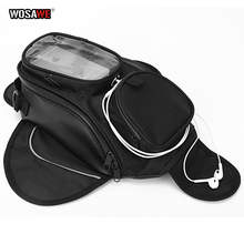 WOSAWE Motorcycle Tank Bags Magnetic Cell Phone GPS Navigation oil Tank Bag Fixed Straps Shoulder Bag Tail Bag With Rain Cover motorcycle tank bags mobile navigation bag fits kawasaki send waterproof cover consulting model and year