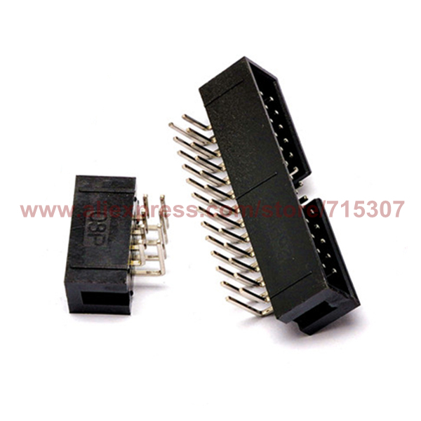 Smart Phiscale 20pcs Idc Connector 2.54mm Idc Header 12p Double Row 2x6 Pin Idc Male Connector Through Hole Right Angle Careful Calculation And Strict Budgeting Connectors