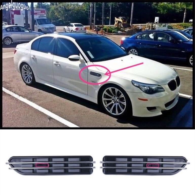 2 шт. для BMW 3 5 серии E60 M5 E39 E90 E46 F10 M3 E34 и т. Д., Боковое покрытие для автомобильного выхода воздуха, украшение крыла, наклейка на вентиляционное отверстие, аксессуары