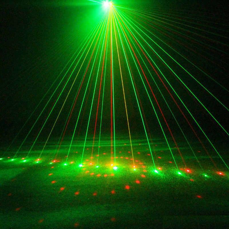 LED RGB DJ Disko Lampu Merah Hijau Laser Acara Proyektor 20 Pola Air Gelombang Efek Suara Diaktifkan Mesa De Som profesional