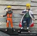 2 pçs/set figuras de ação 12 - 16 cm Naruto Uzumaki Minato Namikaze Anime PVC brinquedos figuras coleção brinquedos