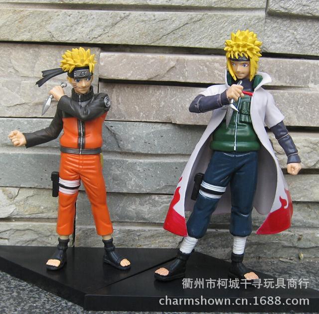 2pcs/set Naruto Uzumaki Minato Namikaze Action Figure PVC