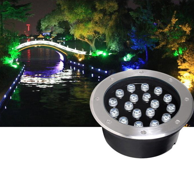 Outdoor LED Buried Lights Recessed In-Ground Lamps Waterproof Walkway Lawn AC 85v-240v
