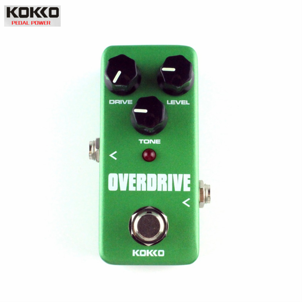 KoKKo Vintage Overdrive Guitar Effect Pedal Guitarra Overdrive Booster High-Power Tube Overload Guitar Stompbox Drop Shipping